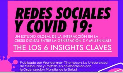 Redes sociales y COVID 19, estudio global de interacción en la crisis digital entre la generación Z y Millennials