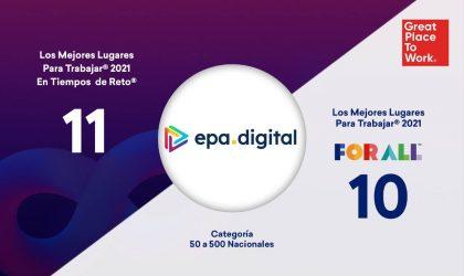 EPA Digital se consolida como una de las mejores empresas para trabajar